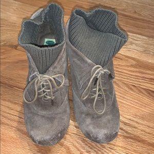 Dr scholls suede sock booties